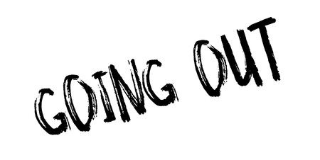 Going Out rubber stamp grungy design