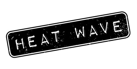 Heat Wave rubber stamp grungy rectangular design Illustration
