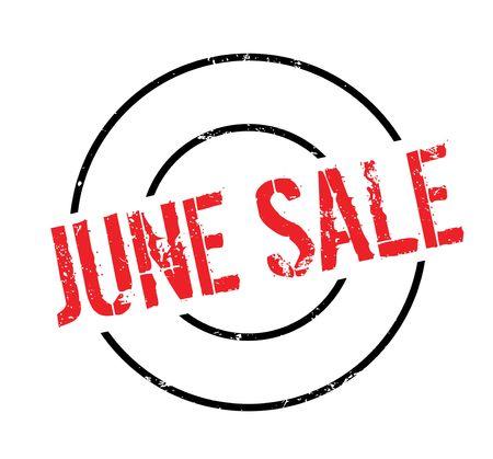cerrando negocio: Sello de goma de la venta de junio