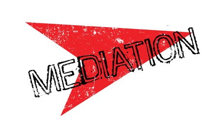 Mediation rubber stamp with red arrow grunge design Stock Vector - 82506195