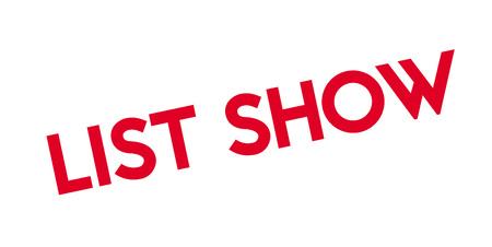 single word: List Show rubber stamp Illustration