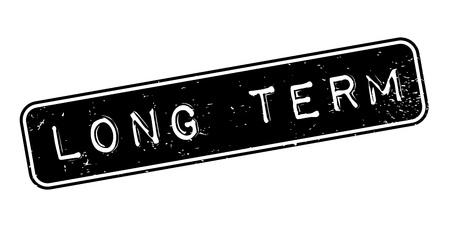 long term: Long Term rubber stamp