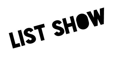 validation: List Show rubber stamp Illustration