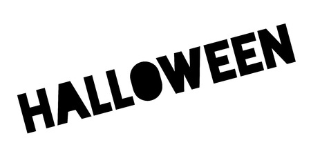 permission granted: Halloween rubber stamp