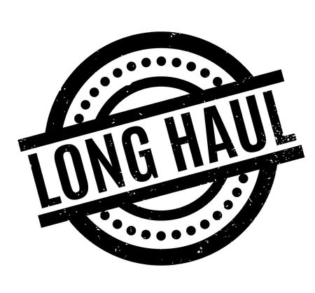 hard: Long Haul rubber stamp. Grunge design with dust scratches. Effects can be easily removed for a clean, crisp look. Color is easily changed. Illustration