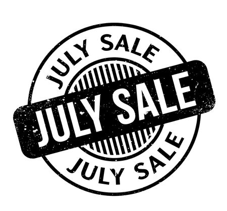 July Sale rubber stamp