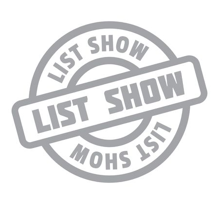 single word: List Show rubber stamp Stock Photo