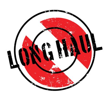 Long Haul rubber stamp. Grunge design with dust scratches. Effects can be easily removed for a clean, crisp look. Illustration