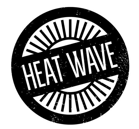 Heat Wave rubber stamp. Grunge design with dust scratches. Effects can be easily removed for a clean, crisp look. Stok Fotoğraf - 82491127