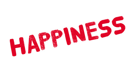 Happiness rubber stamp. Grunge design with dust scratches. Effects can be easily removed for a clean, crisp look.