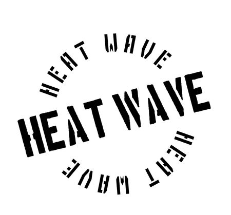 Heat Wave rubber stamp. Grunge design with dust scratches. Effects can be easily removed for a clean, crisp look. 向量圖像