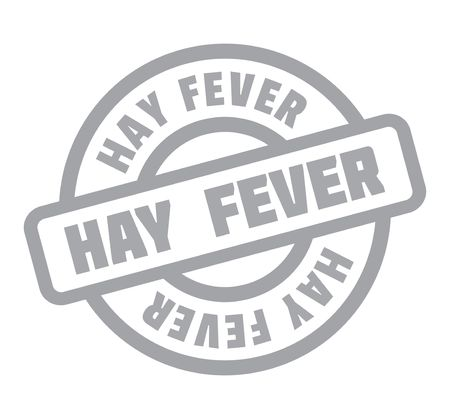 Hay Fever rubber stamp. Grunge design with dust scratches. Effects can be easily removed for a clean, crisp look. Color is easily changed. Illustration