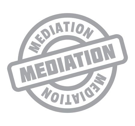 be: Mediation rubber stamp. Grunge design with dust scratches. Effects can be easily removed for a clean, crisp look. Illustration
