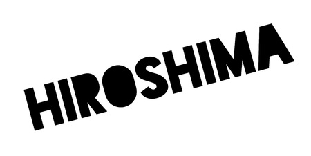 Hiroshima rubber stamp. Grunge design with dust scratches. Effects can be easily removed for a clean, crisp look.