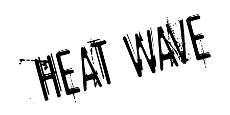 Heat Wave rubber stamp. Grunge design with dust scratches. Effects can be easily removed for a clean, crisp look. Illustration