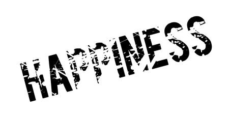 Sello de felicidad Diseño de Grunge con rayas de polvo. Los efectos se pueden eliminar fácilmente para una apariencia limpia y nítida.