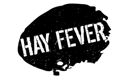 Hay Fever rubber stamp. Grunge design with dust scratches. Effects can be easily removed for a clean, crisp look. Color is easily changed. Stock Photo