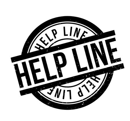 Help Line rubber stamp. Grunge design with dust scratches. Effects can be easily removed for a clean, crisp look. Color is easily changed.