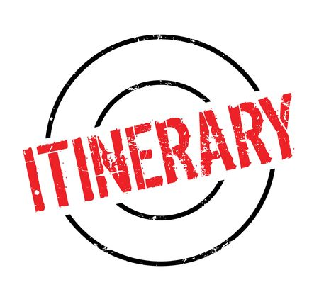be: Itinerary rubber stamp. Grunge design with dust scratches. Effects can be easily removed for a clean, crisp look.