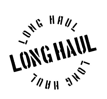 hard: Long Haul rubber stamp. Grunge design with dust scratches. Effects can be easily removed for a clean, crisp look. Illustration