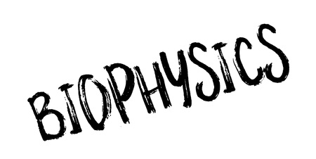 Biophysics rubber stamp Векторная Иллюстрация