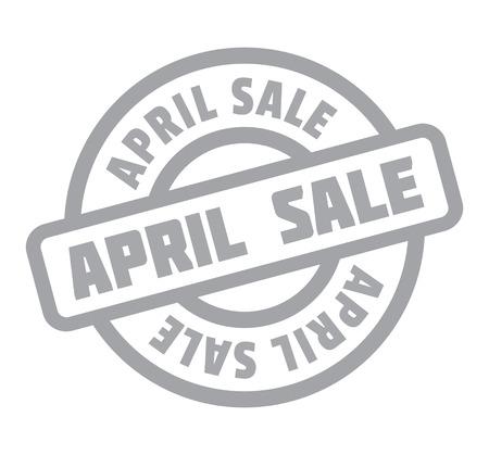 unloading: April Sale rubber stamp Illustration