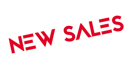 New Sales rubber stamp