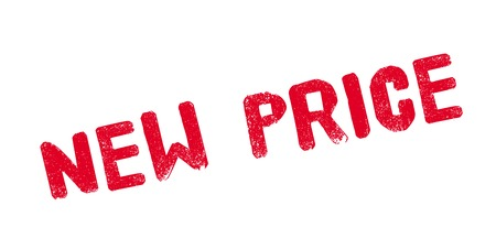 rate: New Price rubber stamp Illustration