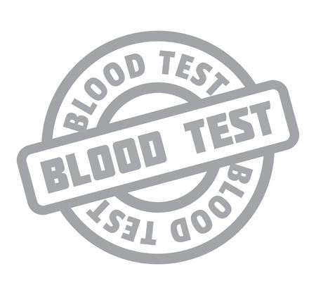 Blood Test rubber stamp