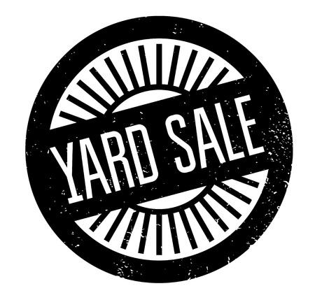 uprzejmości: Yard Sale rubber stamp Ilustracja