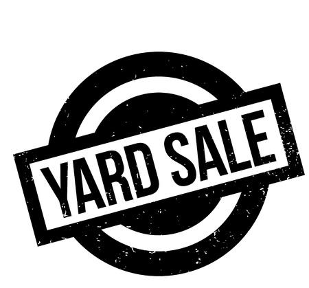 Yard Sale rubber stamp Illustration