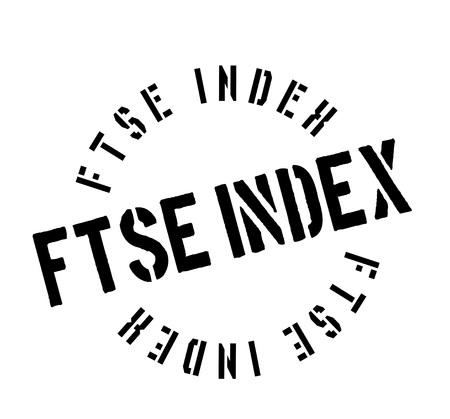 footsie: Ftse Index rubber stamp Illustration