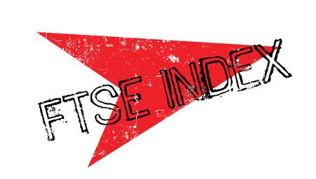 Ftse Index rubber stamp Vektoros illusztráció