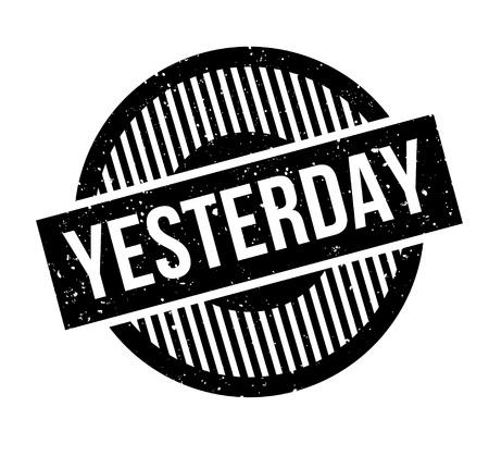 dearest: Yesterday rubber stamp Illustration