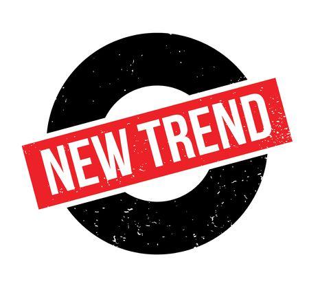 New Trend rubber stamp Illusztráció