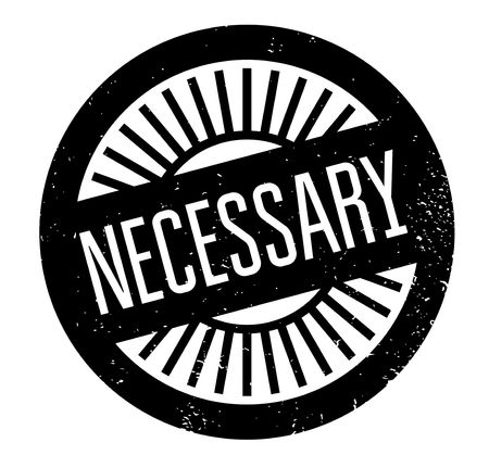Necessary rubber stamp Illustration