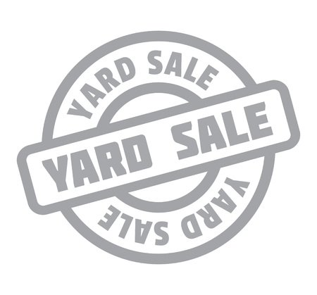 clearing: Yard Sale rubber stamp Illustration