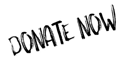 voluntary: Donate Now rubber stamp