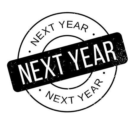checklist: Next Year rubber stamp