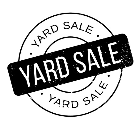 Yard Sale rubber stamp Ilustração