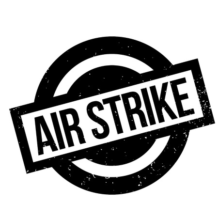 Air Strike rubber stamp