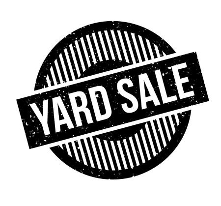 Yard Sale pieczątka Ilustracja
