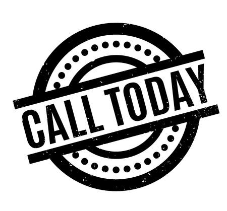 Call Today caoutchouc Vecteurs