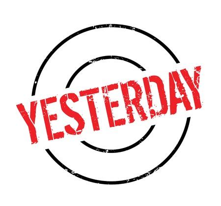 Yesterday rubber stamp Çizim