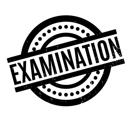 uni: Examination rubber stamp Illustration
