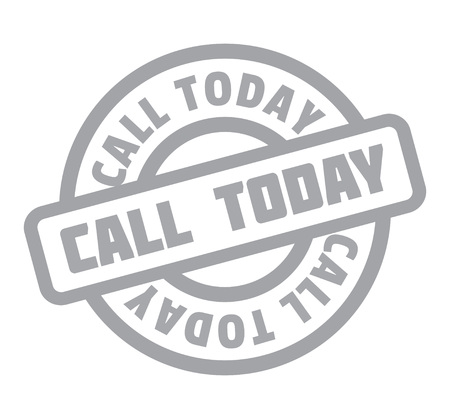 voguish: Call Today rubber stamp Illustration