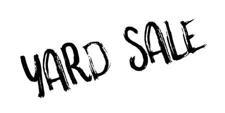 Yard Sale rubber stamp Illustration