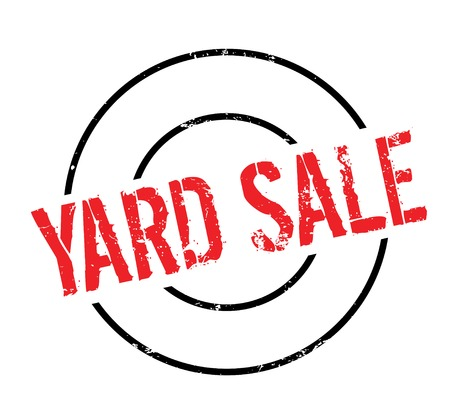 Yard Sale rubber stamp Imagens - 82550188