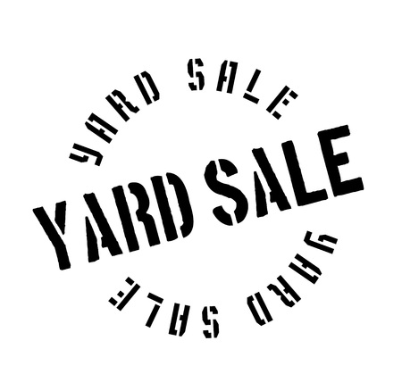 Yard Sale rubber stamp Ilustrace