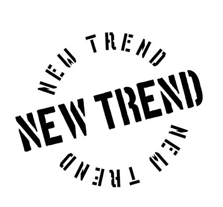 New Trend rubber stamp 向量圖像